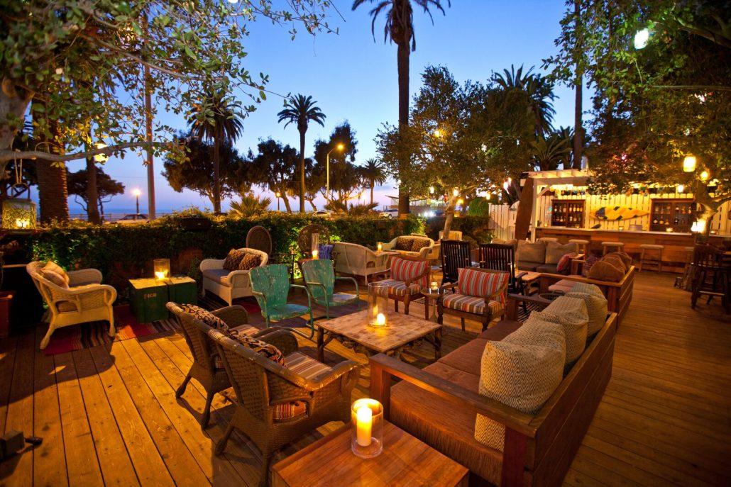 bungalow santa monica patio deck seating