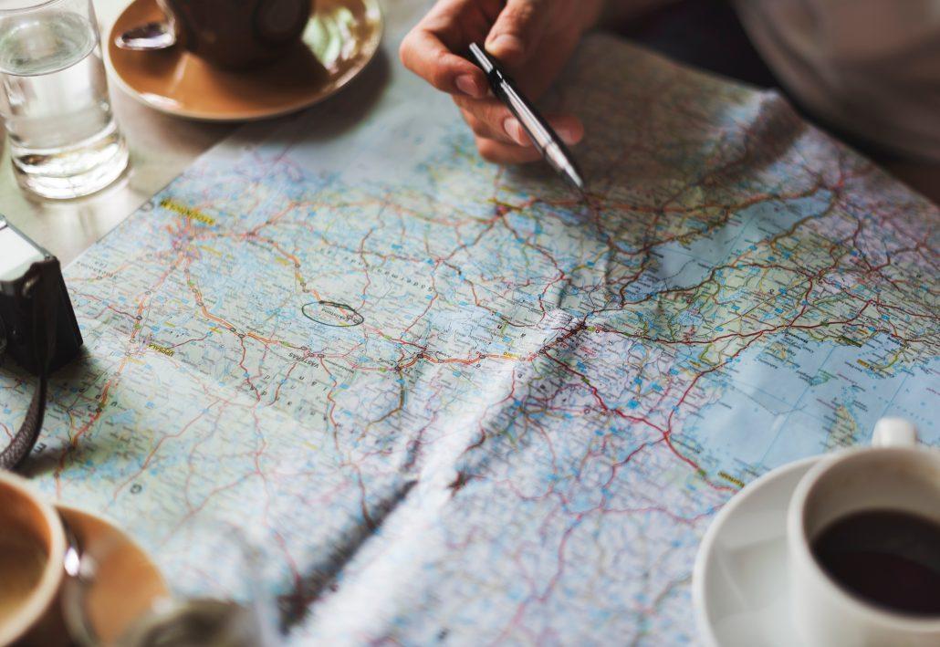 travel map destinations