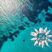 Yacht Week Croatia aerial view of boats