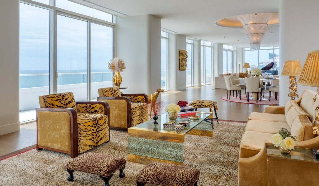 Faena Hotel Penthouse Suite living room views