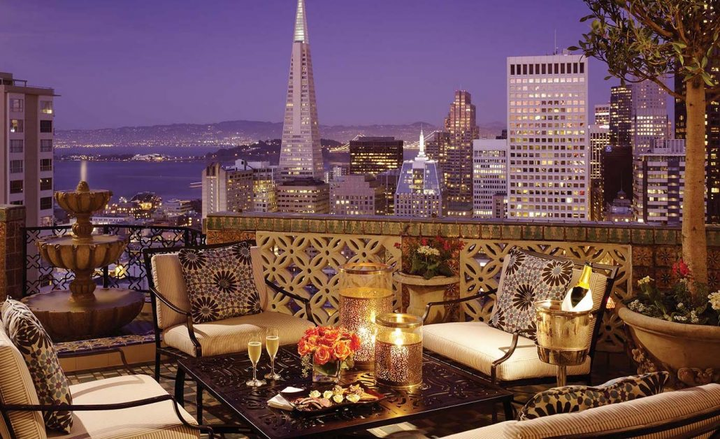 fairmont san francisco presidential suite rooftop view of city