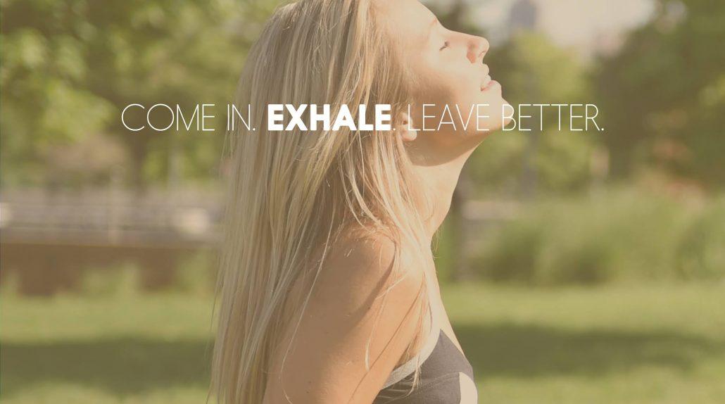 girl outside exhale spa