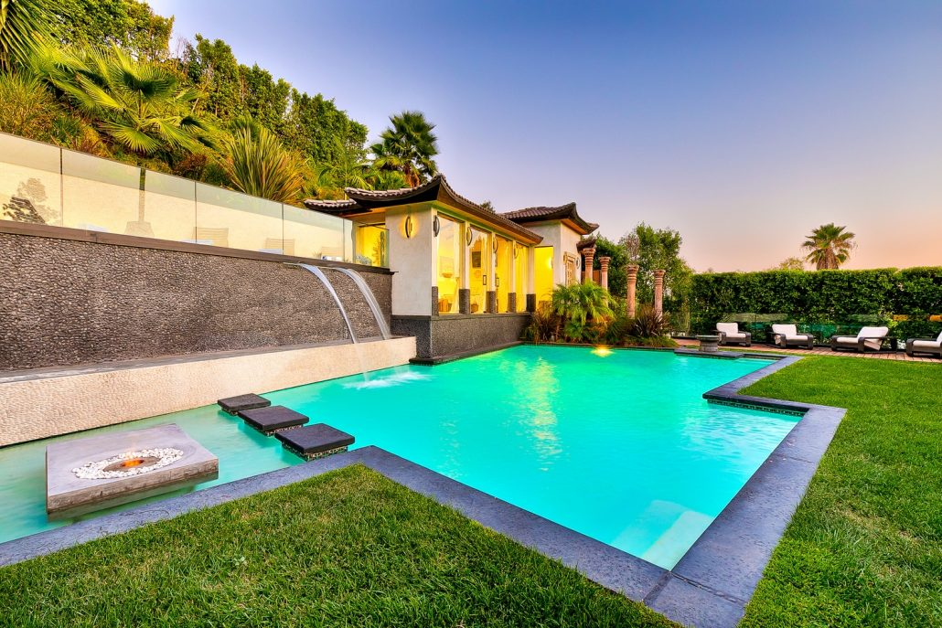 beverly hills villa rental zen pool