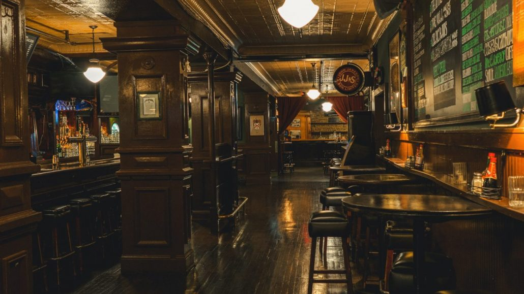 caseys irish pub bar interior