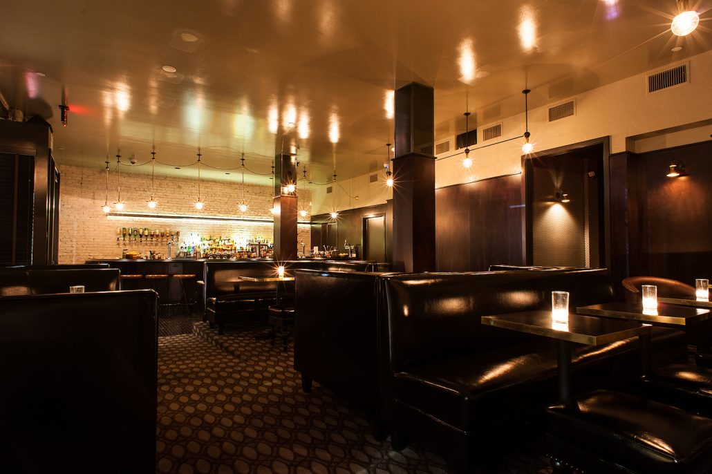 The Normandie Club bar interior seating