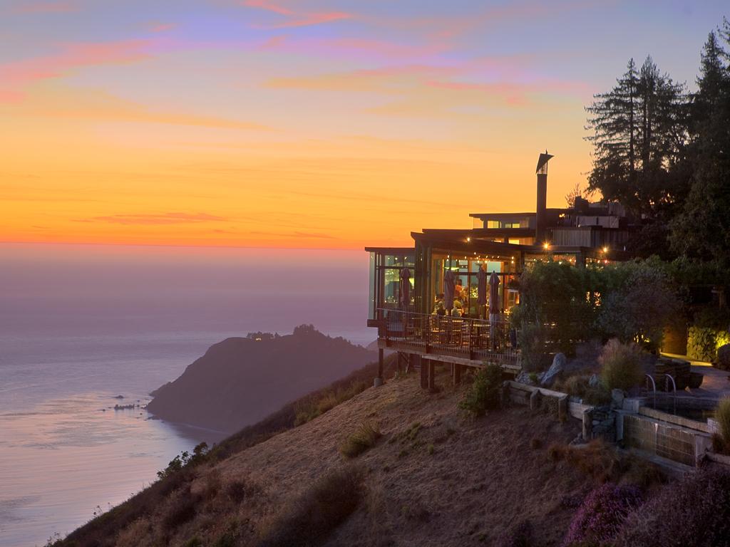 post ranch inn sunset views off cliff