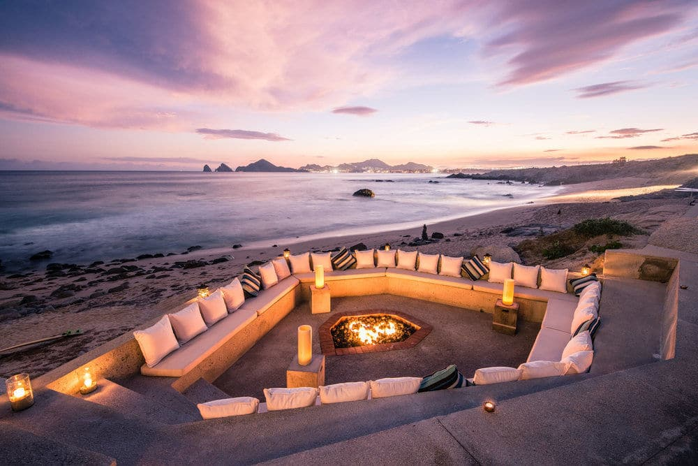 thompson cape beach seating by fire pit