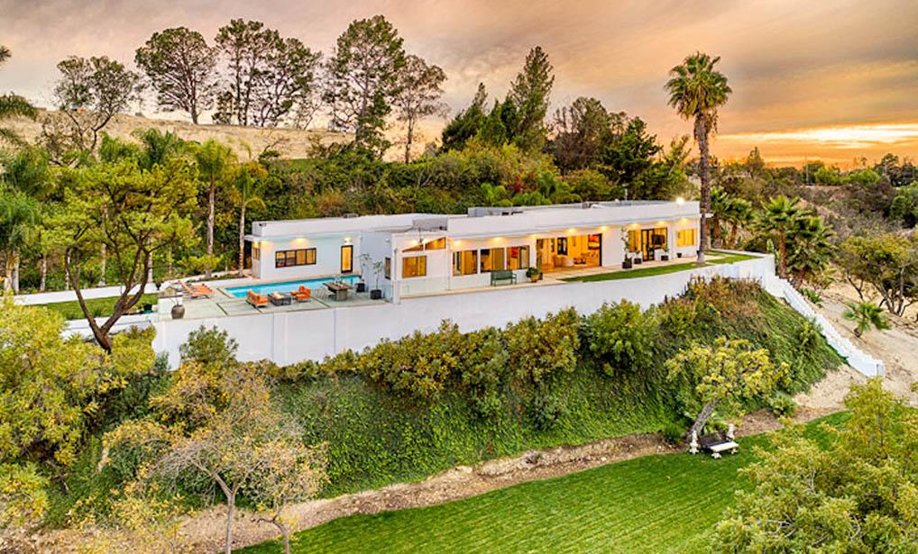 beverly hills villa rental aerial view