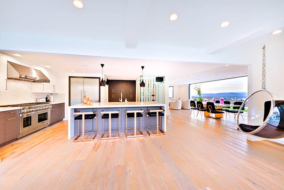 beverly hills villa rental kitchen open floor plan