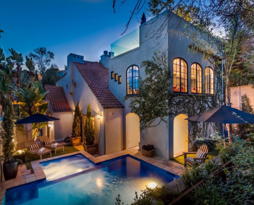 chaplin villa hollywood hills rental