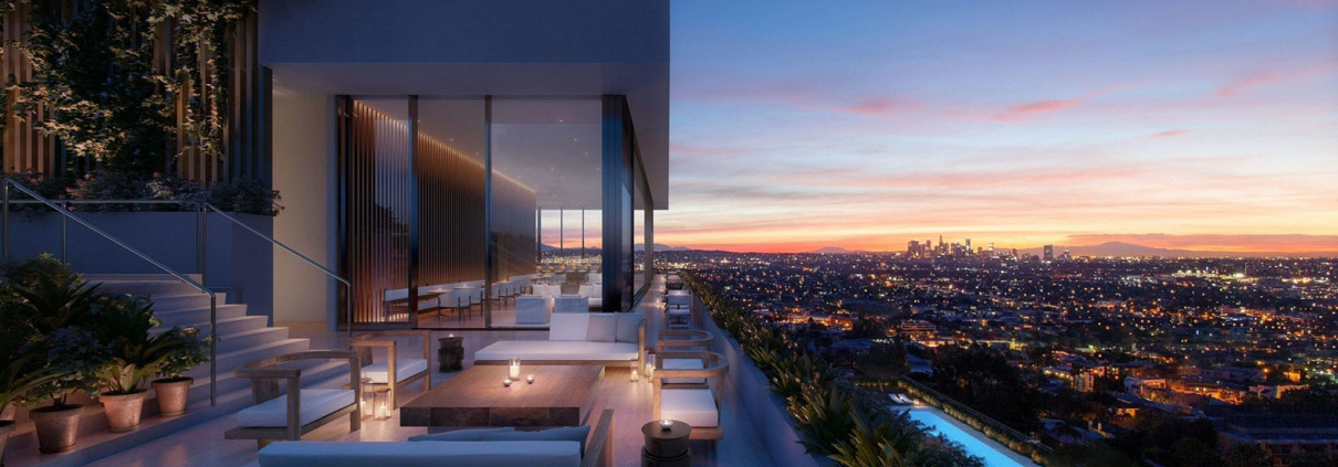 west hollywood rooftop view of los angeles