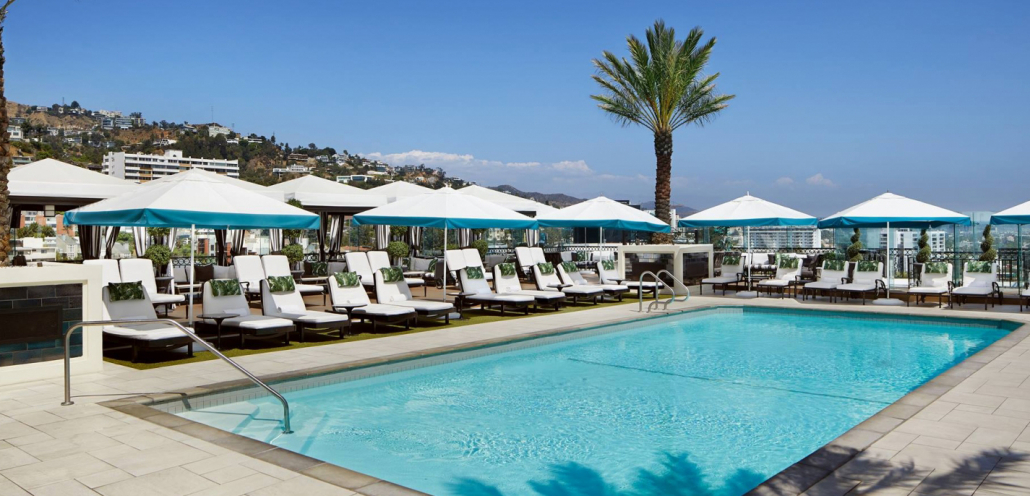 london west hollywood rooftop pool