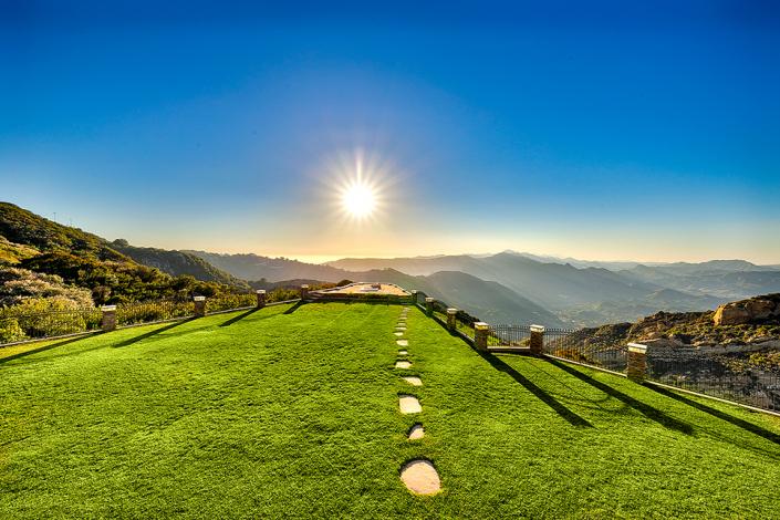 malibu villa rental backyard view