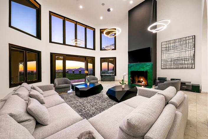 malibu villa rental family room design