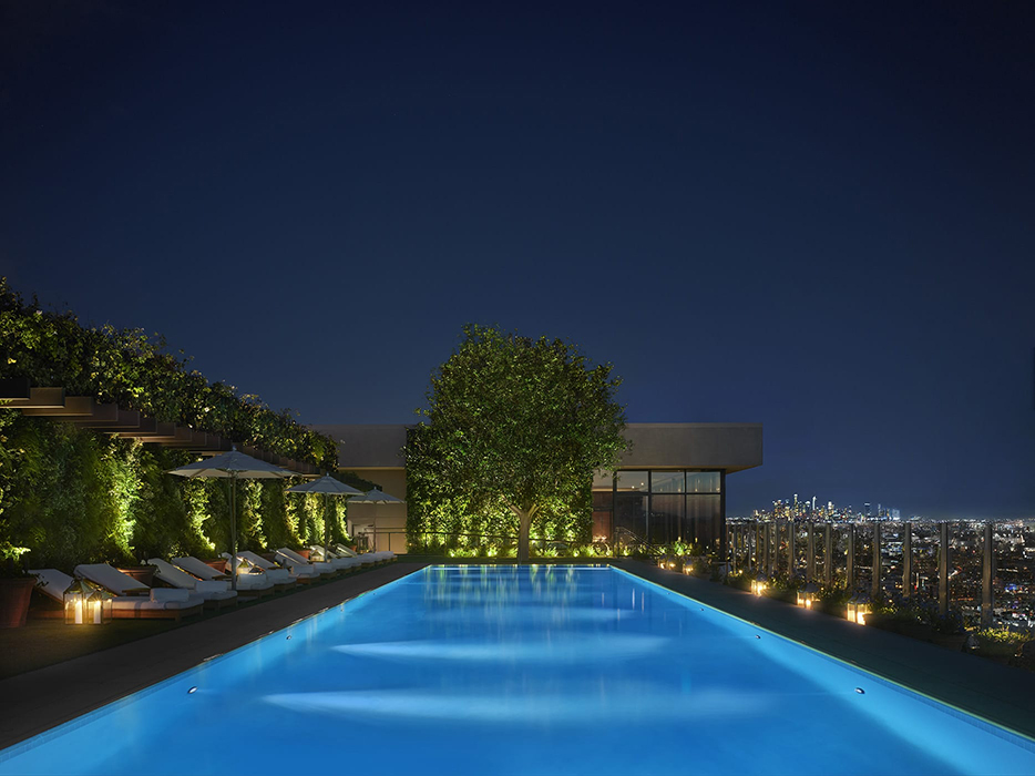west hollywood edition rooftop pool