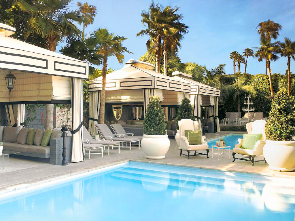 viceroy santa monica pool with cabanas