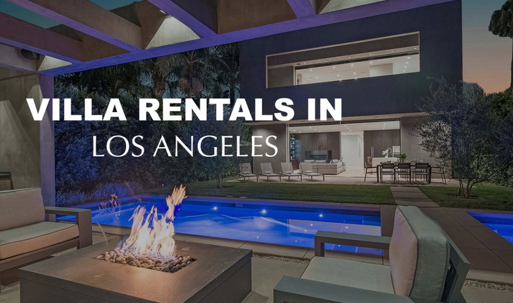 villa rentals in los angeles fire pit by pool