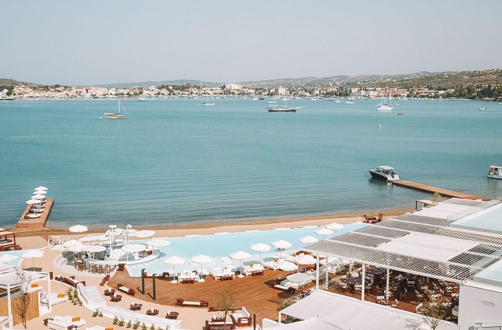Nikki Beach Porto Heli view