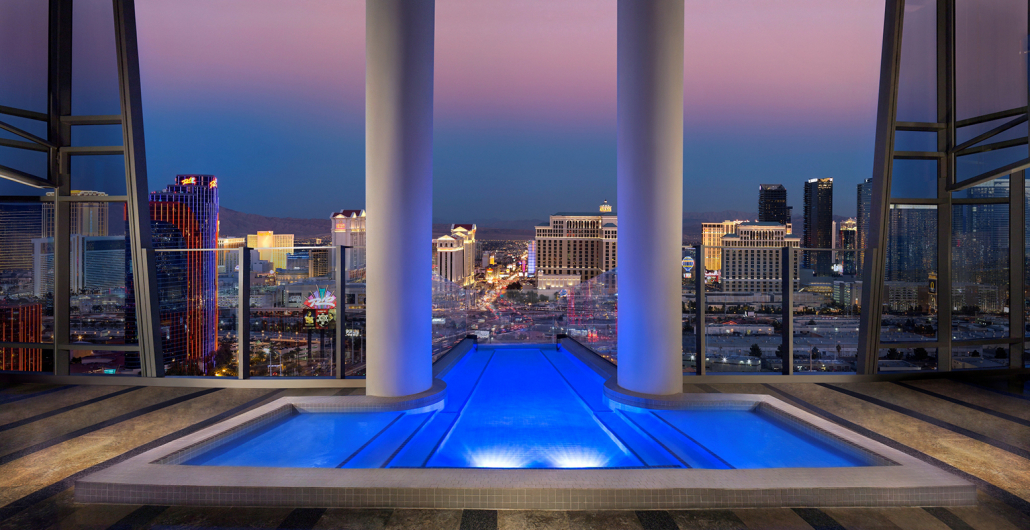 sky villa palms casino resort private pool