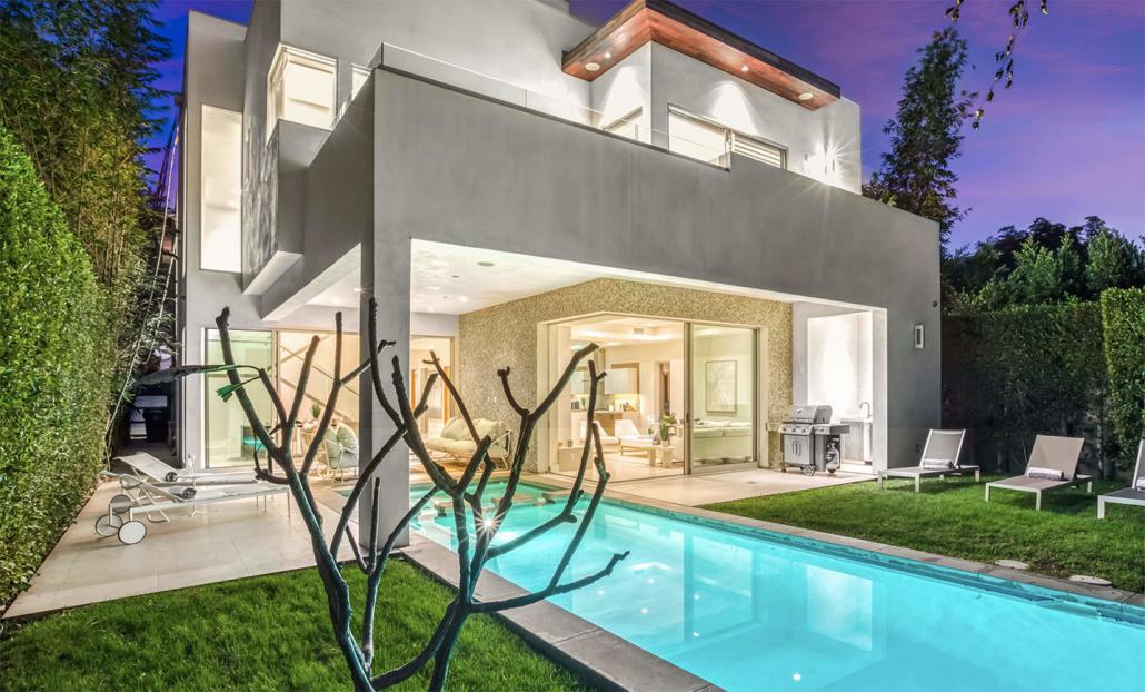 west hollywood villa rental pool in backyard