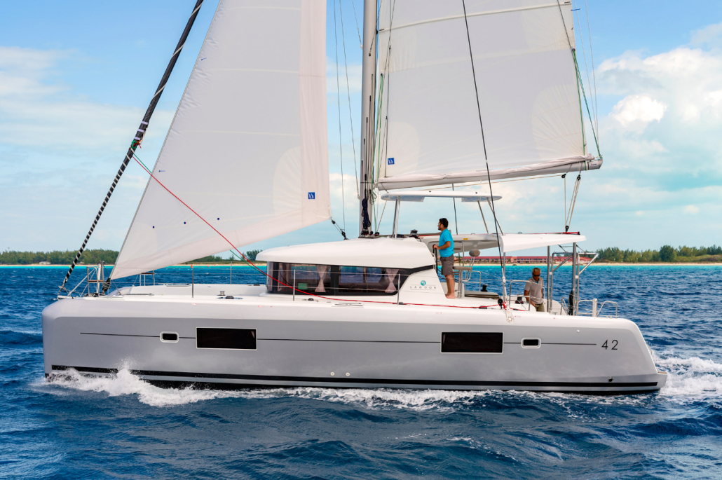 Lagoon 42 Yacht Sailing during the yacht week