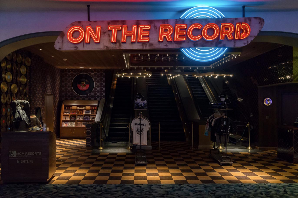 on the record speakeasy entrance las vegas