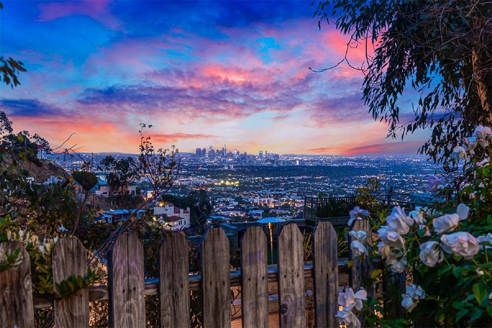 hollywood hills villa rental city view