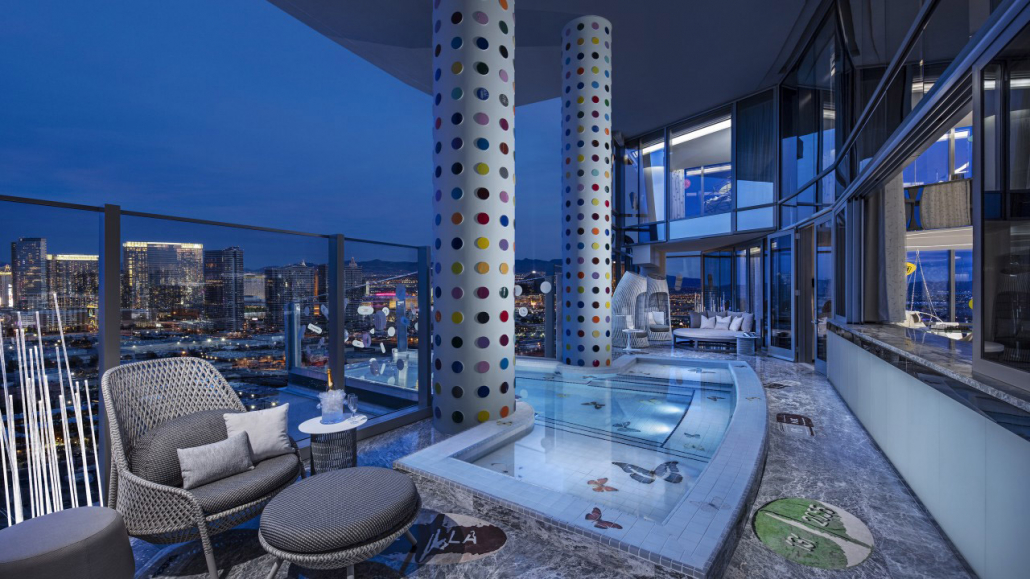 palms casino resort sky villas pools