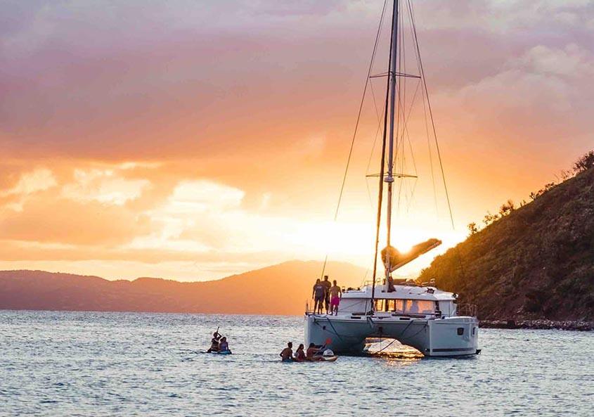Yacht Week BVI Sunset