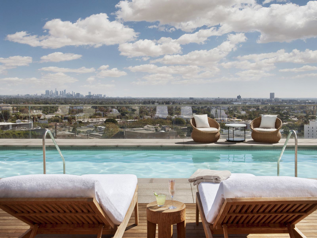 1 Hotel West Hollywood rooftop pool downtown los angeles views