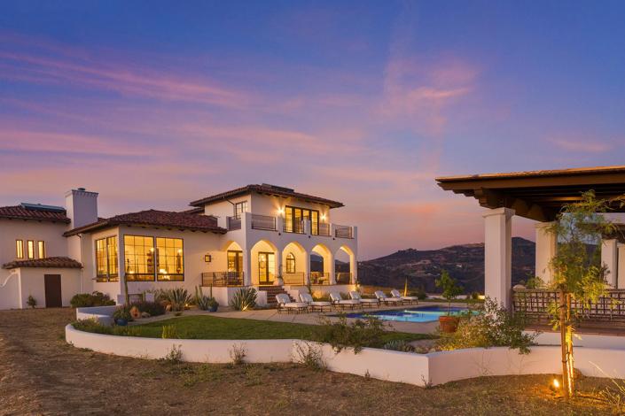 malibu villa rental sunset view