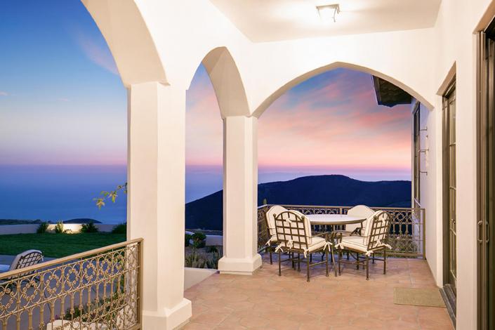 malibu villa rental view of sunset