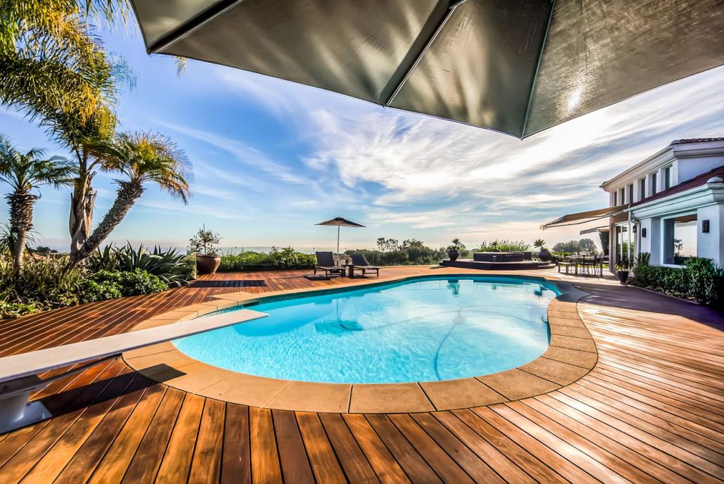 la jolla villa rental backyard pool