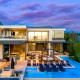 hollywood hills villa rental pool exterior view
