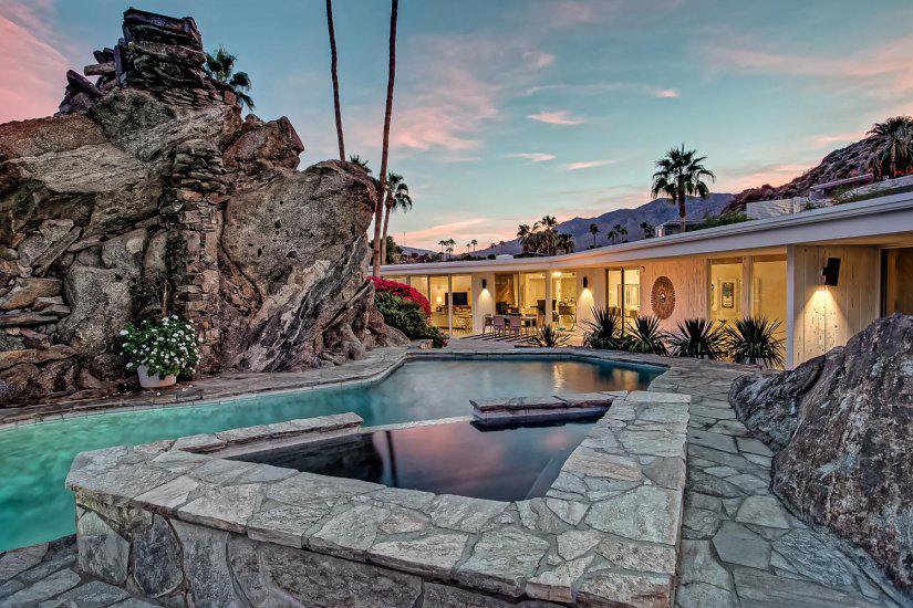 cliffside estate palm springs villa rental