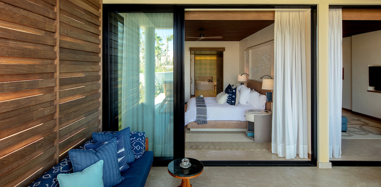 chileno bay spa suite with plunge pool bedroom
