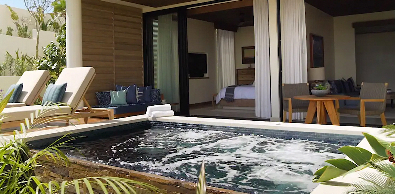 chileno bay spa suite with plunge pool