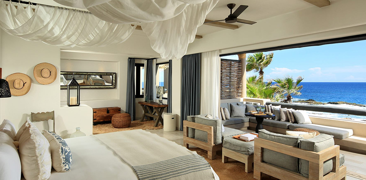 esperanza cabo beachfront terrace spa jr suite bedroom