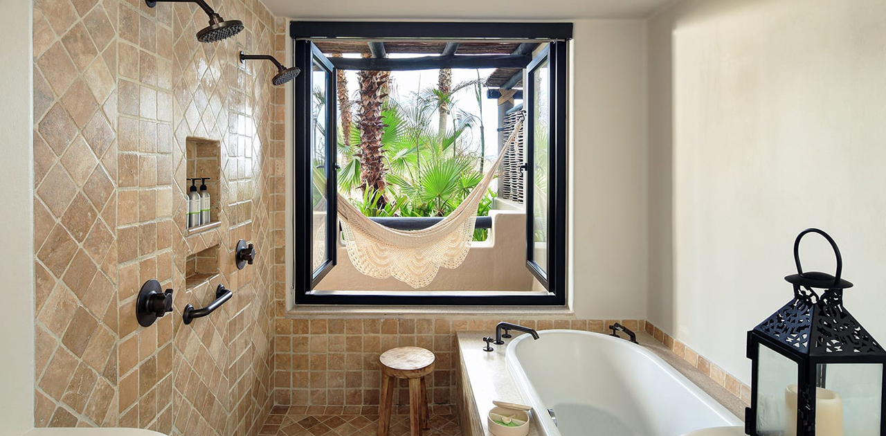 esperanza cabo oceanview garden casita bathroom