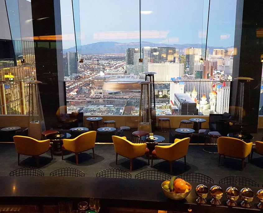 skyfall lounge view of las vegas