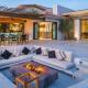 cabo villa rental lounge seating firepit