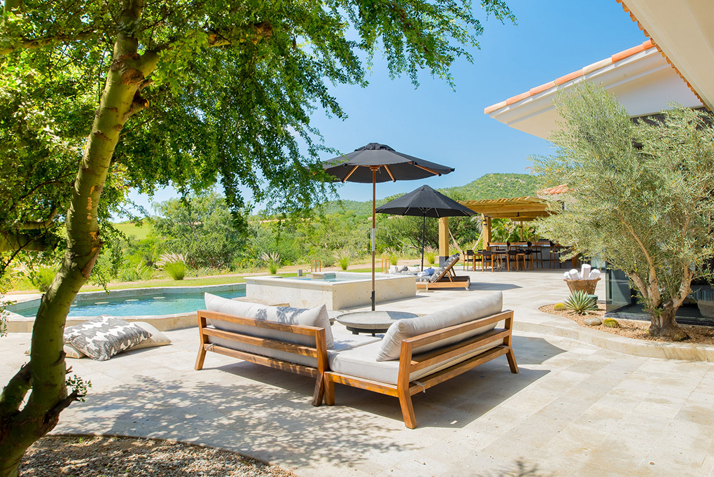 cabo villa rental pool on patio