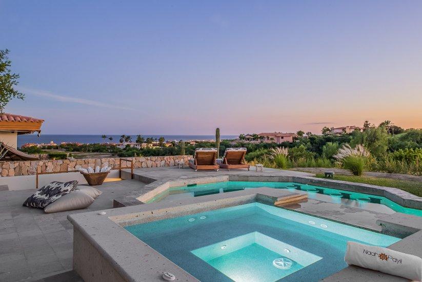 cabo villa rental pool jacuzzi