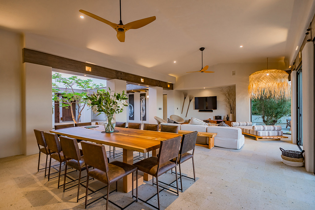 cabo villa rental dining table