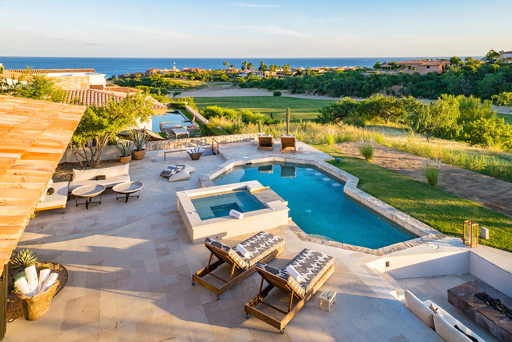 cabo villa rental pool overview