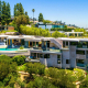 blue jay modern hollywood hills villa rental aerial exterior view