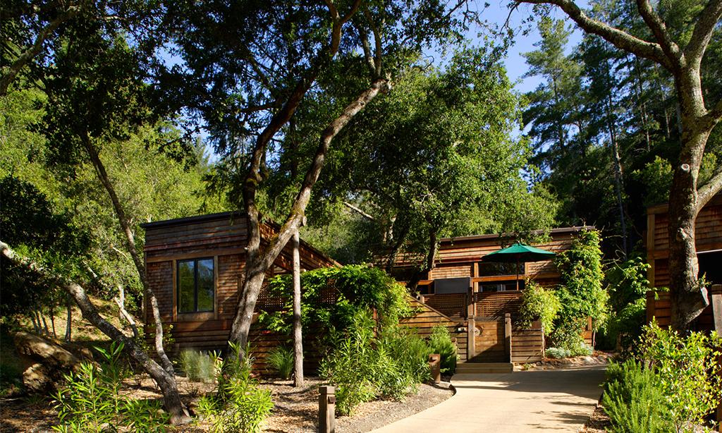 calistoga ranch resort forest lodge entrance