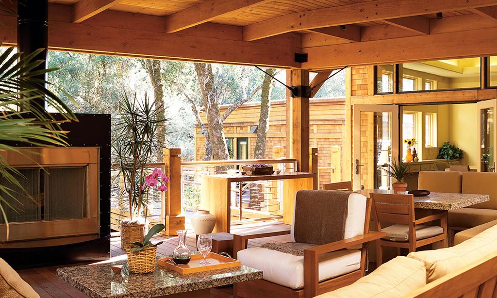 calistoga ranch resort estate lodge patio