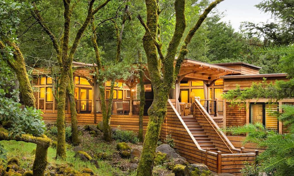 calistoga ranch resort meadow spa lodge exterior