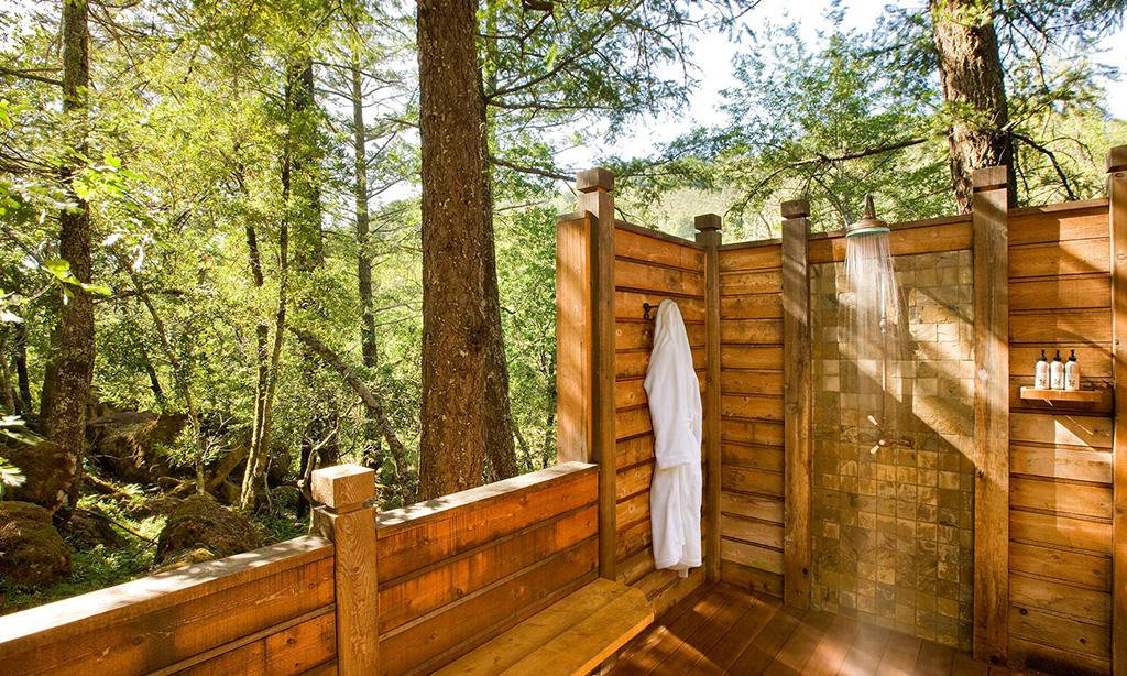 calistoga ranch resort meadow spa lodge outdoor shower